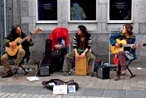 gatves muzikantai